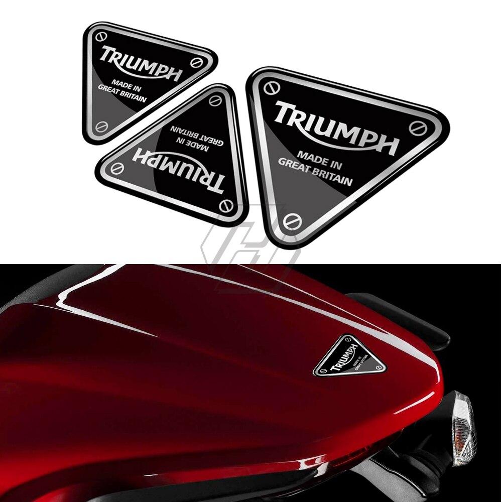 3D motocicleta calcomanía tornillo parche pegatina funda para Triumph 675/675R velocidad TRIPLE 1050/1050R Tigre 800