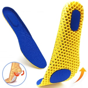 Memory Foam Insoles For Shoes Sole Mesh Deodorant Breathable Cushion Running Insoles For Feet Man Women Orthopedic Insoles