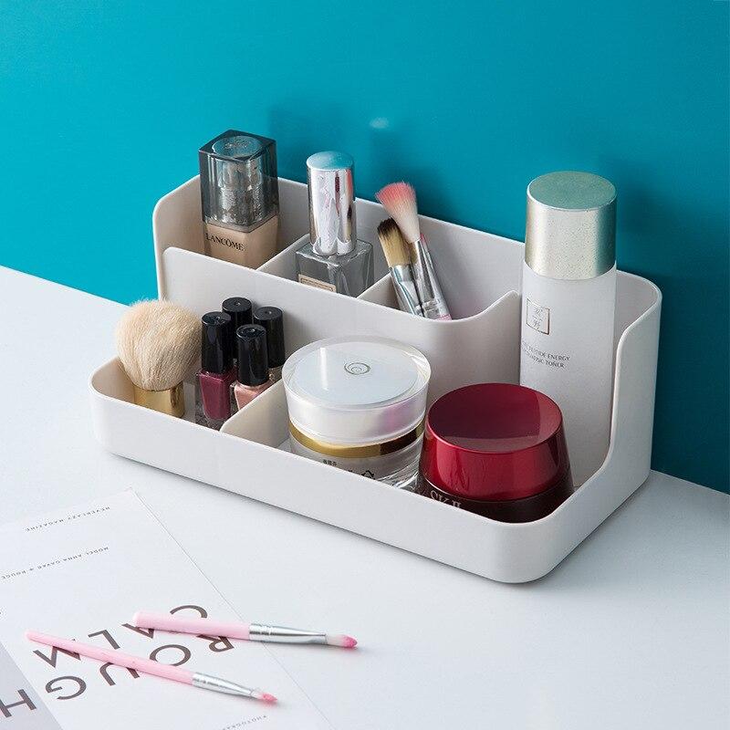 Plastic Makeup Organizer Sundries Container Bathroom Storage Box Cosmetic Organiser Office Desktop M