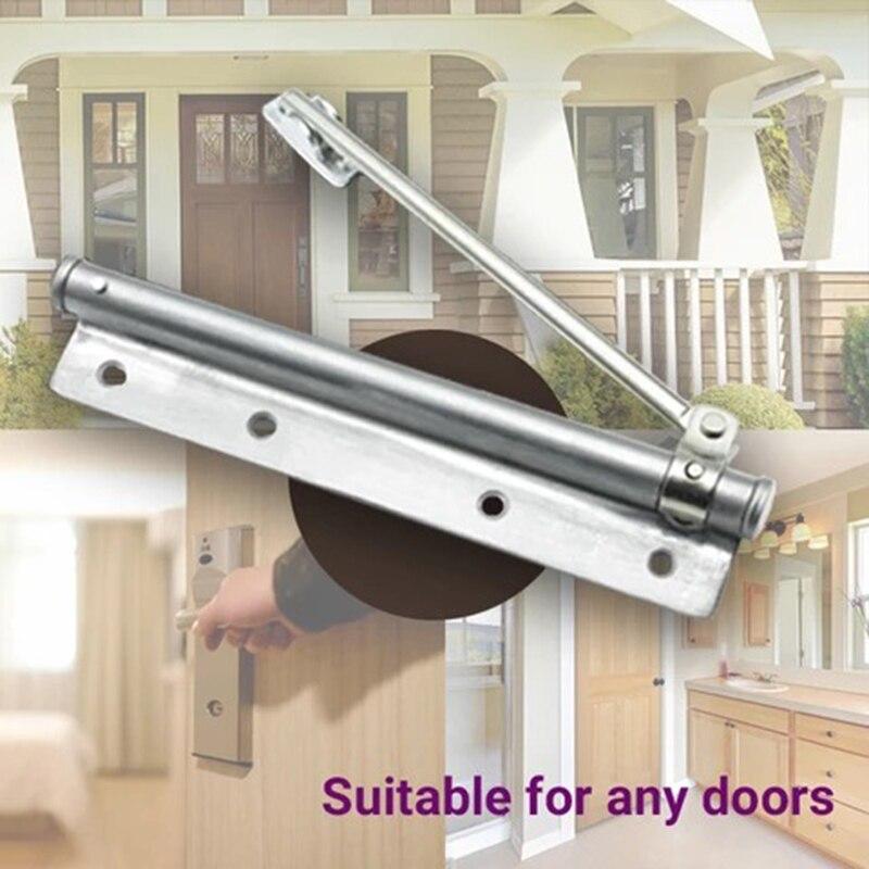 Puerta hidráulica grande para el hogar, cierre ajustable, bisagra de resorte, cierre automático, herrajes para puertas con clasificación contra incendios