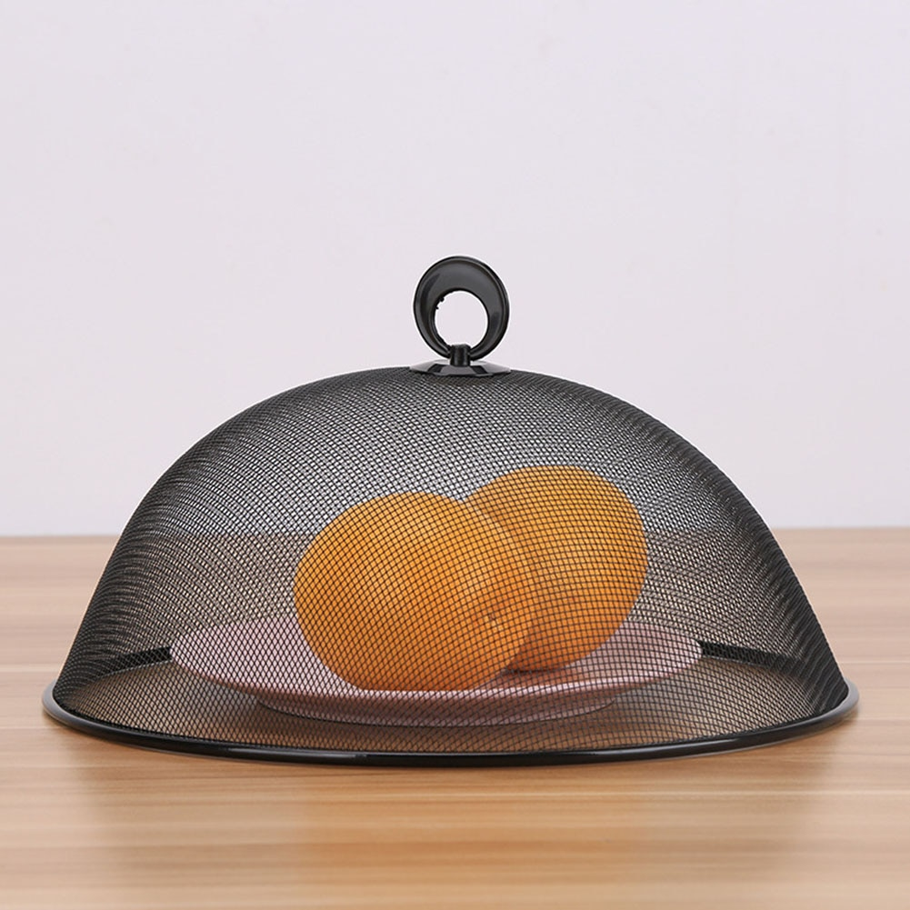 Round Iron Mesh Ventilation Metal Food Cover With Ring Hand Anti-Fly Mosquito Bug Mesh Net Protectors Tool Kitchen Accessories