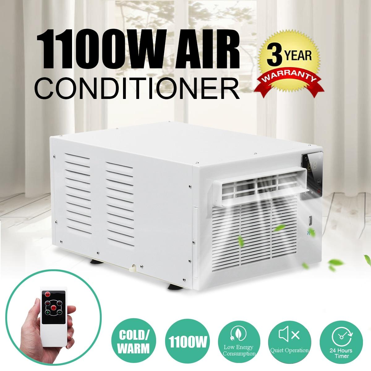 1100W aire acondicionado de escritorio 220V/AC 24 horas temporizador frío/calor doble uso con control remoto LED panel de control de aire para mascotas