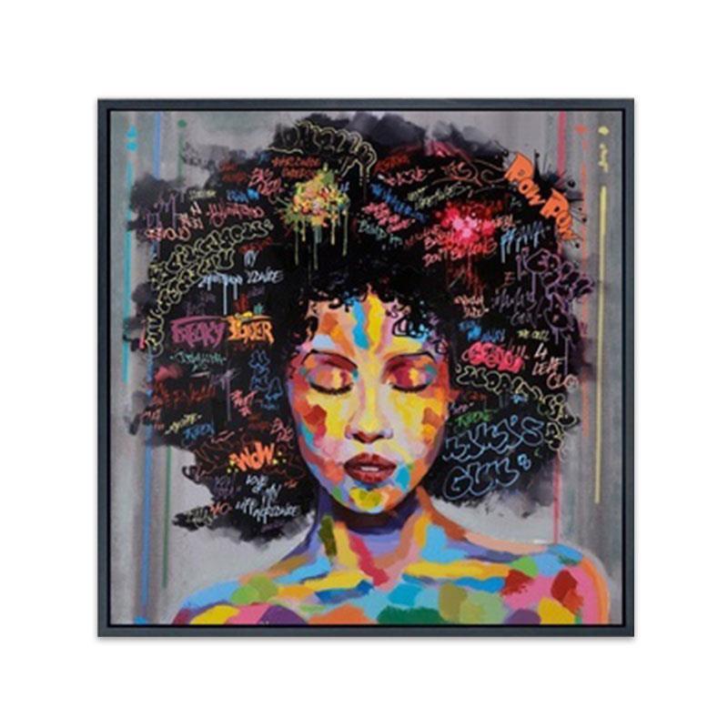 Oil Painting Wall Art Women Face 2Pcs/Set Print African African Home Artwork Creative Canvas Figurative Paint Mordern Modern