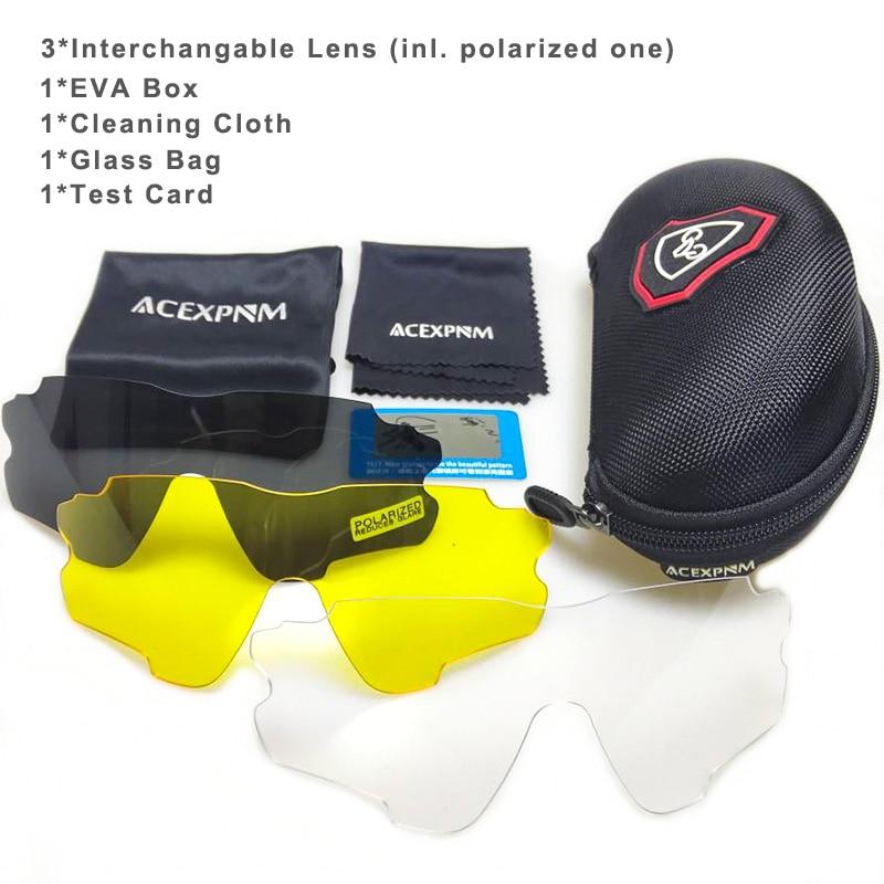 Gafas polarizadas para ciclismo, deportes al aire libre, gafas de ciclismo, gafas para ciclismo, bicicleta de montaña, gafas de sol UV400, 4 lentes