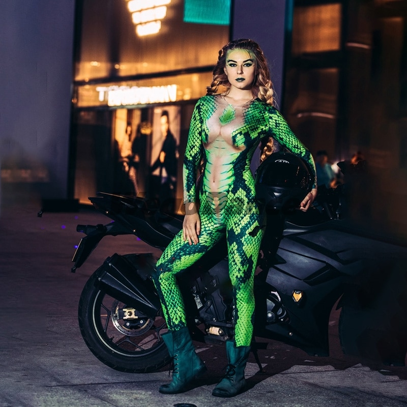 New Sexy Fashion Snake Pattern Nightclub Dj Dancer Costume For Women Freeshipping