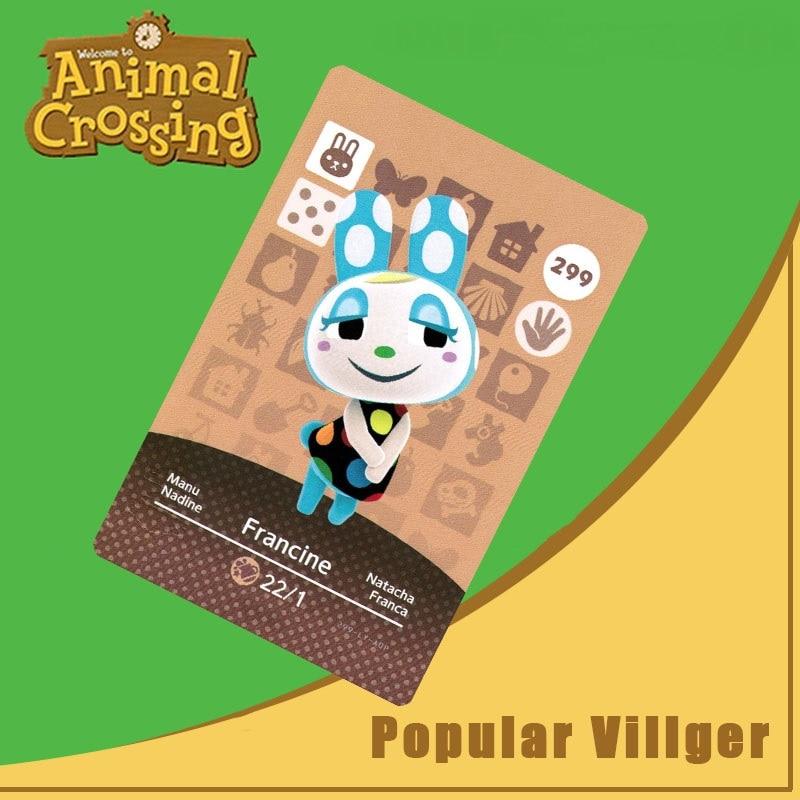 299 Francine TARJETA DE Amiibo Animal Crossing serie Animal Crossing Nuevos Horizontes TARJETA DE Amiibo para Ns interruptor juegos tarjeta Nfc