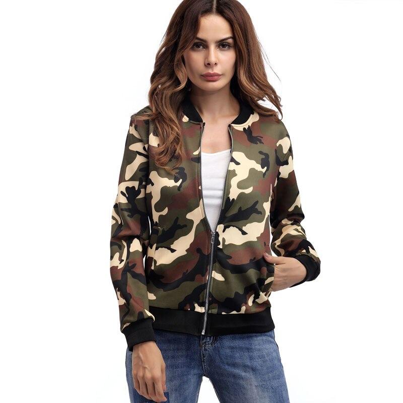 Женская куртка, осенняя Женская куртка, камуфляжная повседневная куртка, модная свободная бейсбольная форма, Женская куртка-бомбер для жен...