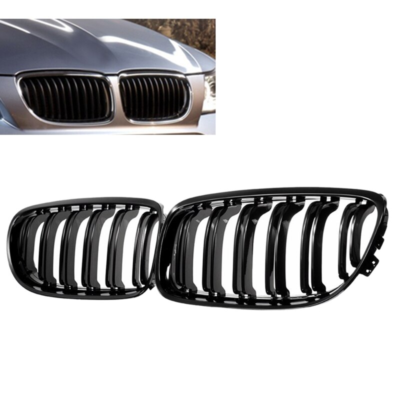 1 пара Автомобильная передняя решетка глянцевая черная впускная решетка для BMW E90 LCI 3-Series Sedan/Wagon 2009 - 2011