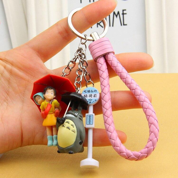 2020 Miyazaki Hayao Comic My Neighbor Totoro Keychains Pendant for Women Trinket Metal Key Chains Car Bag Pendent Keyrings