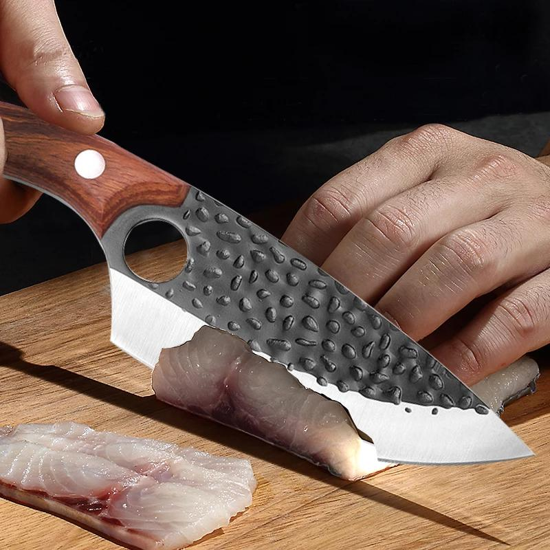 5.7 Inch Kitchen Knife Stainless Steel Meat Cleaver Butcher Spare Rib Knife Boning Knife Cooking Tool enlarge