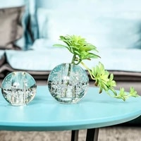 bubble crystal glass small vase office table decoration small fresh vase desk plant pot decorative table decoration living room