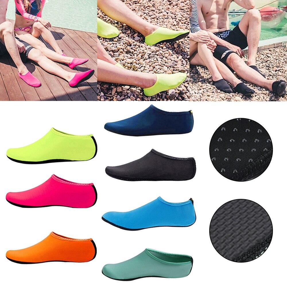 Unisex Water Shoes Swimming Diving Socks Summer Aqua Beach Sandal Flat Shoe Seaside Non-Slip Sneaker Slipper for Men Women