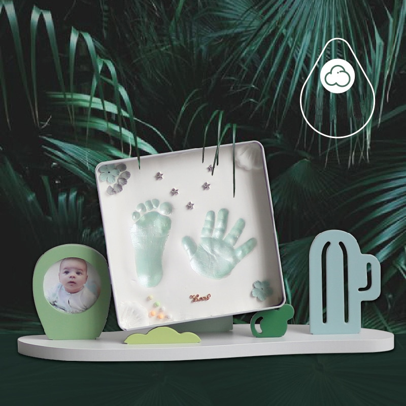 10PCS/Set Handprint Souvenirs Safe Non-Toxic Infant Soft Easy Make Clay Hand&Foot Print Newborn Homemade DIY Creative Keepsake