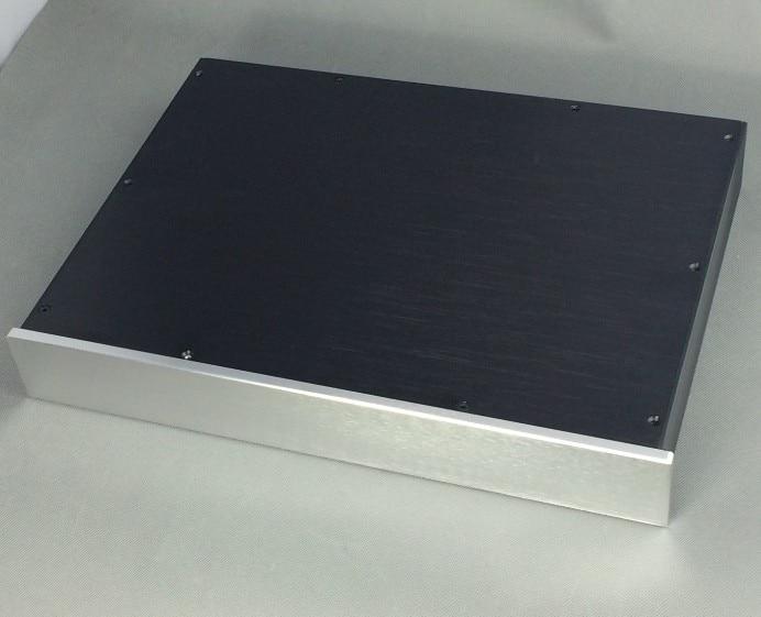 KYYSLB Todo Caso de Alumínio do Perfil Profissional 4306 Fase Frente  Caso DAC Chassis Amplificador DIY 430X62X308MM Amplificador Habitação