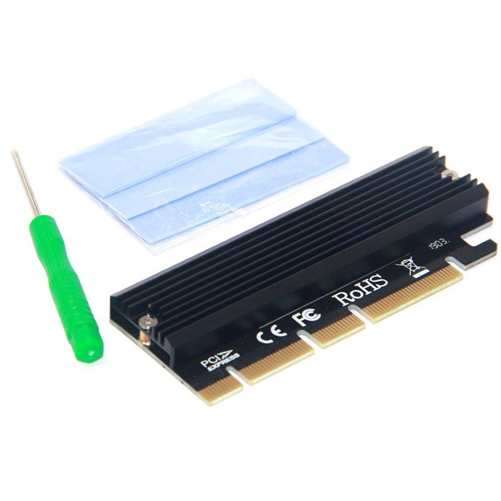 Pci-E 3.0 16x M.2 Adapter Aluminium Shell Led Solid State Drive Uitbreidingskaart Computer Adapter High-Speed Transmissie