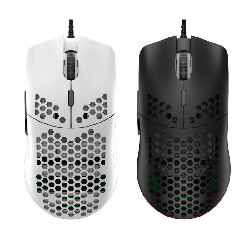 M6 oco favo de mel padrão jogo mouse leve rgb wired gaming mice 12000 dpi para os amantes do jogo