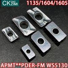 APMT1135PDER-FM WS5130 APMT1604PDER-FM WS5130 APMT1605PDER-FM WS5130 HS5130 carbure insère des Inserts de fraisage outils APMT pour lacier