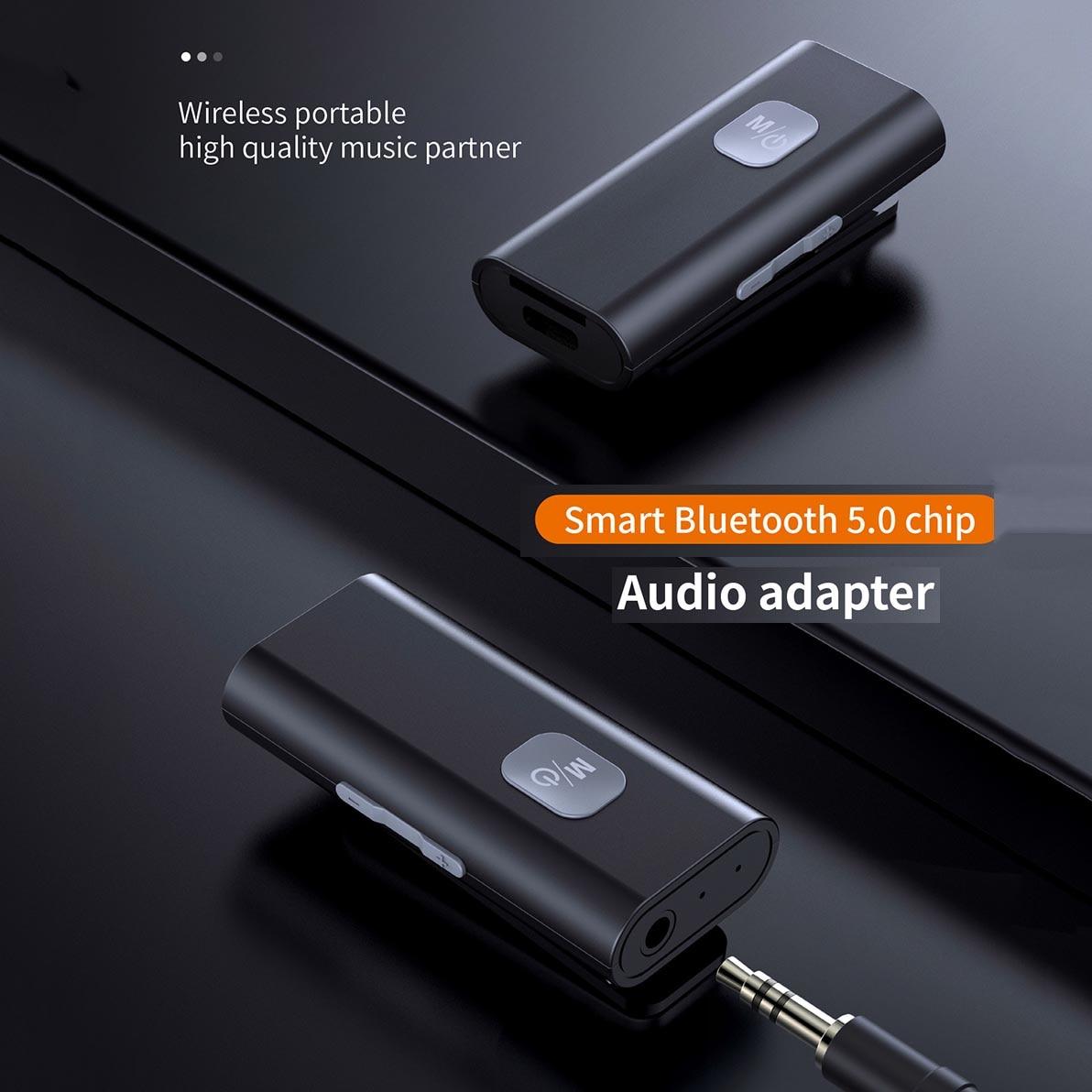 5.0 אלחוטי אודיו מתאם קולט נייד Bluetooth-תואם מקלט 3.5mm שקע AUX רמקול אוזניות