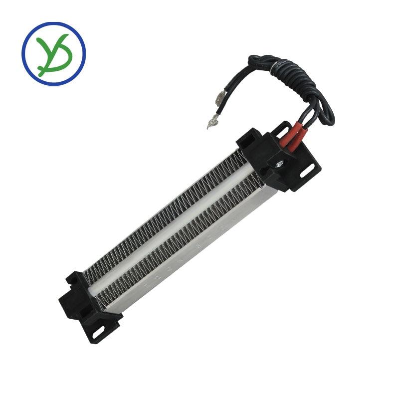 Calentador de aire de cerámica PTC 300W AC DC 220V, elemento de calentamiento PTC, calentador eléctrico 152*32mm
