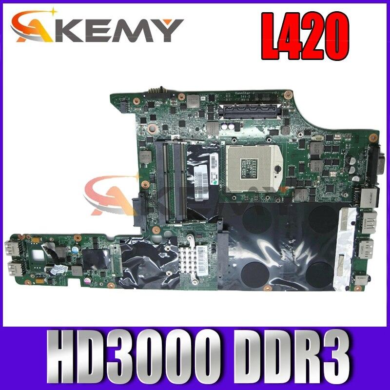 Akemy FRU 63Y1799 DAGC9EMB8E0 اللوحة الأم للكمبيوتر المحمول لينوفو IBM L420 HM65 GMA HD3000 DDR3 اللوحة الأم