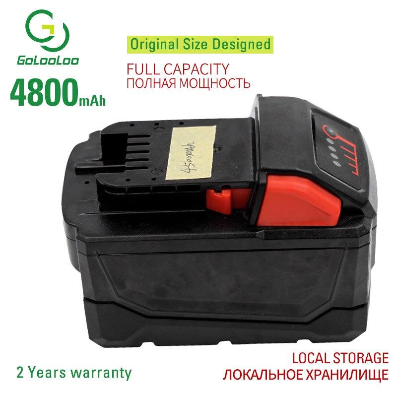 Golooloo 18v 4800mAh Li-ion Tool Battery for Milwaukee M18 2646-22CT/21CT/20 2643-21CT 2641-21CT/202642-21CT 2729-22/20/21