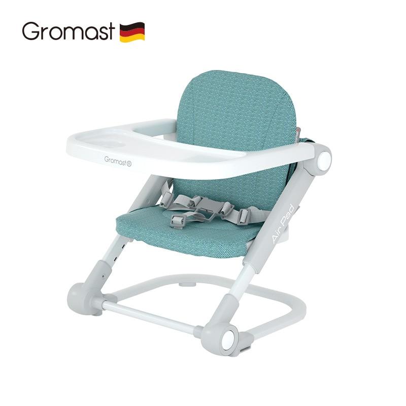 Люминесцентный светильник, портативное и складное детское кресло-бустер для столовой, регулируемое детское сидение для еды, детское настол...