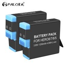 100% original1-8PCS 3.85v 1250 mah li-ion AHDBT-801 bateria recarregável akku AHDBT-801 herói 8 preto para acessórios gopro