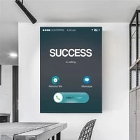 success is calling canvas poster motivational canvas wall art nordic print wall picture for living room modern home decoration