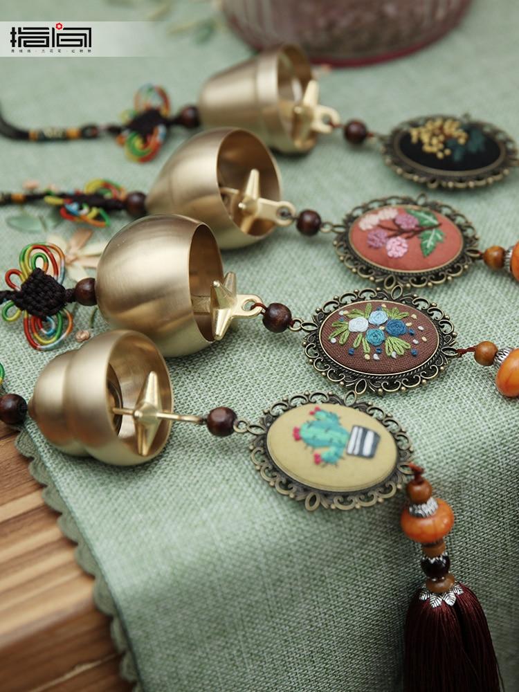Креативная вышивка diy Материал посылка ручная вышивка дверной звонок набор рукодельный колокольчик украшение двери колокольчик