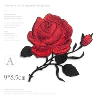 1pcs delicate rose embroidery iron on sew on patches for clothing applique diy hat coat dress pants accessories cloth sticker