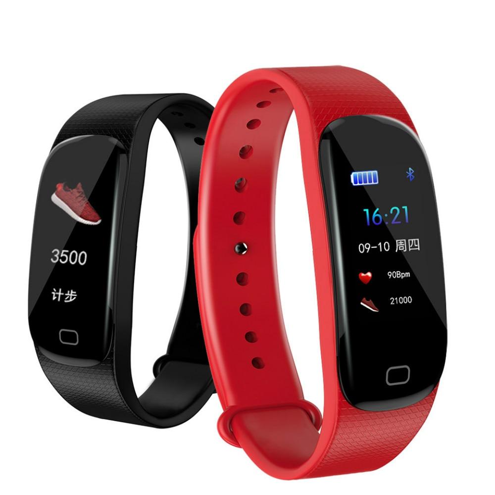 Pulsera inteligente M5 plus, pulsera resistente al agua con medidor de pulso y medición de presión, pulsera de reloj con rastreador de actividad deportiva