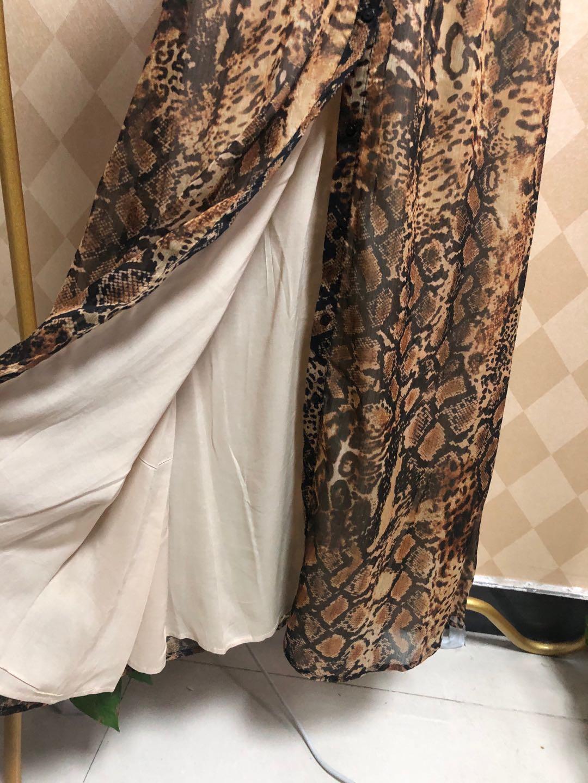 Vestido de mulher python estampado vestido longo