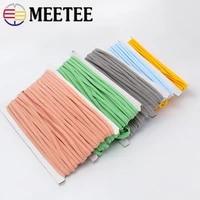 meetee 2350yards 5mm ropes elastic band rope ribbon shoulder strap belt baby hair bands ring shoes diy handmade accessories