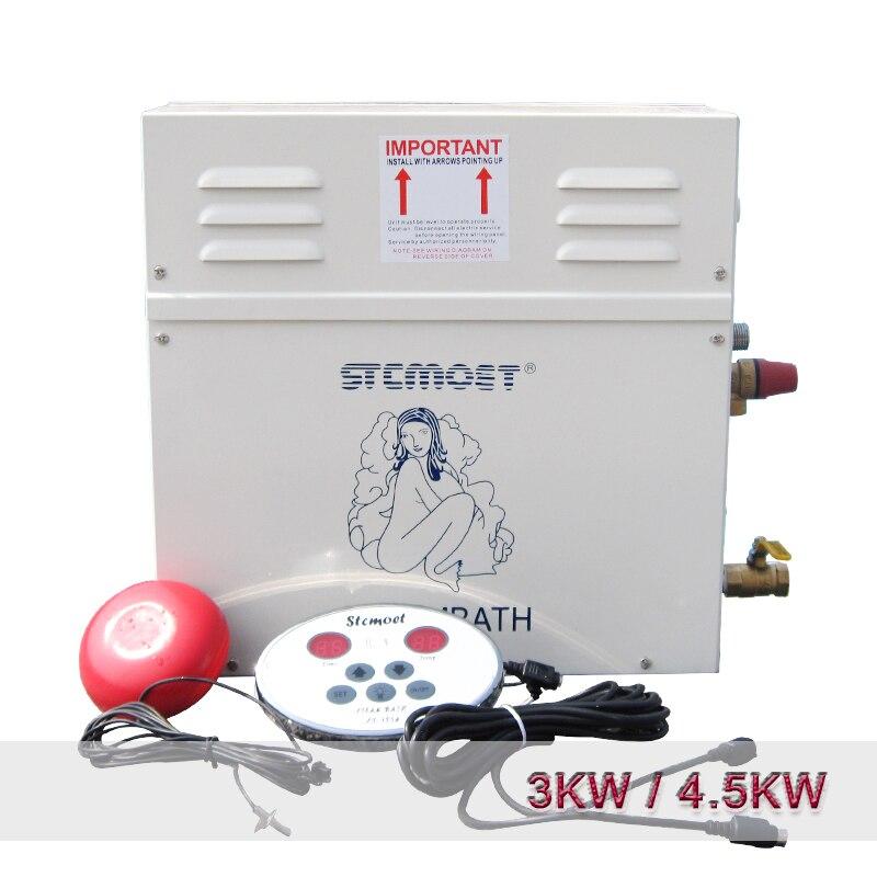 3KW/4.5KW домашняя Паровая машина Парогенератор Сауна сухая Паровая Печь влажный паровой пароход цифровой контроллер аппарат для сауны