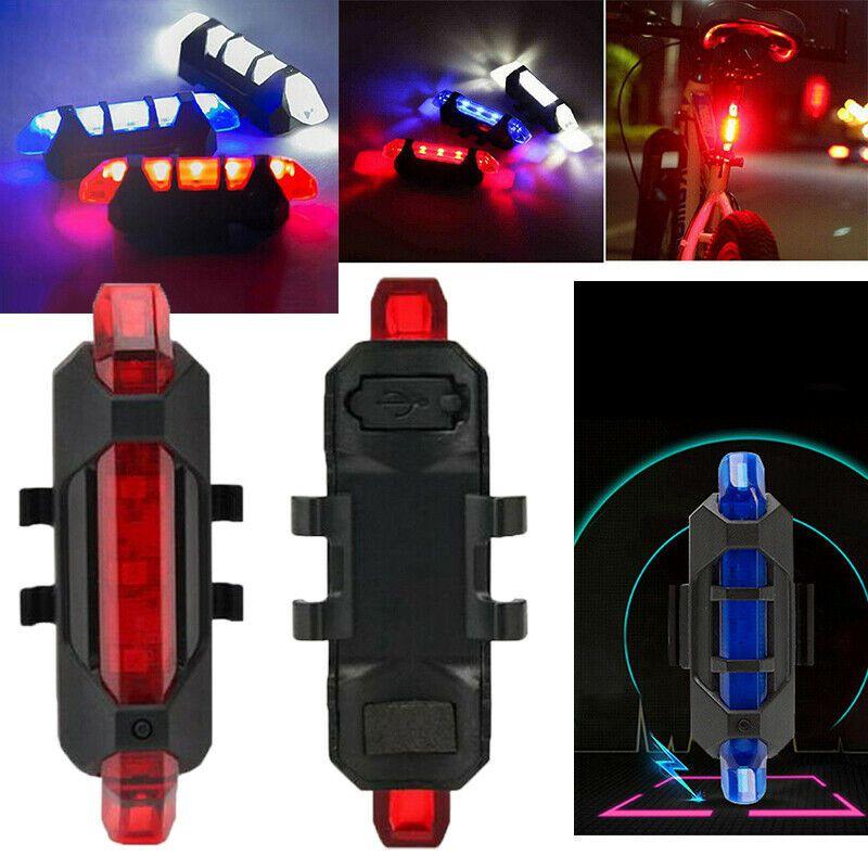 Велосипед свет, светодиодные задние фонари безопасность заднего хвоста Предупреждение Велоспорт Портативный светильник, USB Стиль Перезаряжаемые или Батарея Стиль n
