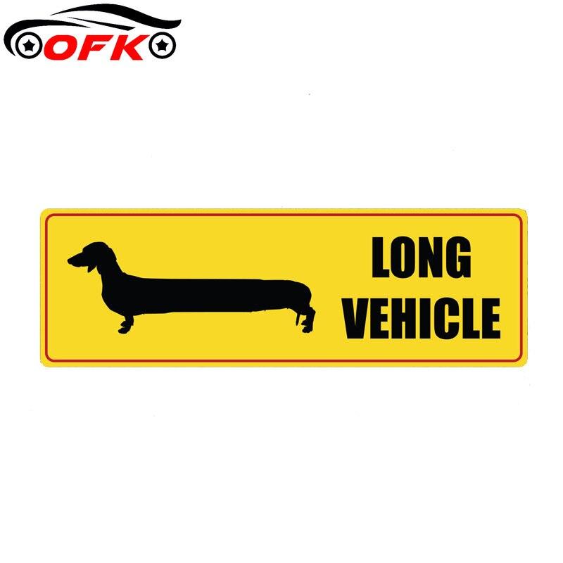 Светоотражающая наклейка на длинное транспортное средство, 14,3 см * 4,6 см