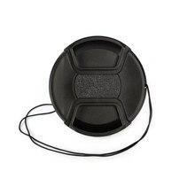 49 52 55 58 62 67 72 77 82 86mm center pinch Snap-on cap cover Logo voor canon nikon Lens