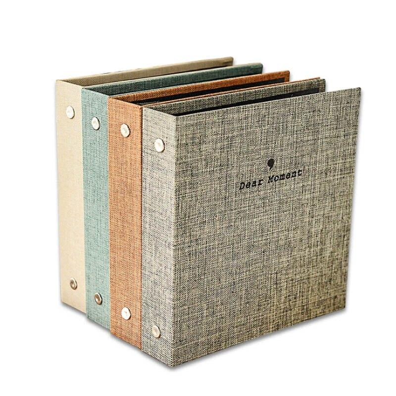 1Pcs DIY Craft Anniversary Scrapbook Scrapbooking Picture Album Large Capacity 3/5 Inch Wedding Photo Decor Cotton Linen