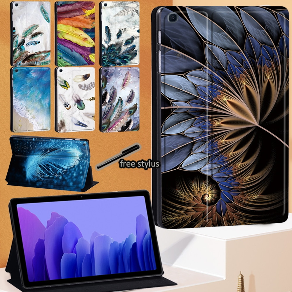 Feather Series Tablet Case for Samsung Galaxy Tab A7 10.4 Inch 2020 Hard Shell Stand Cover for Tab A7 SM-T500 SM-T505