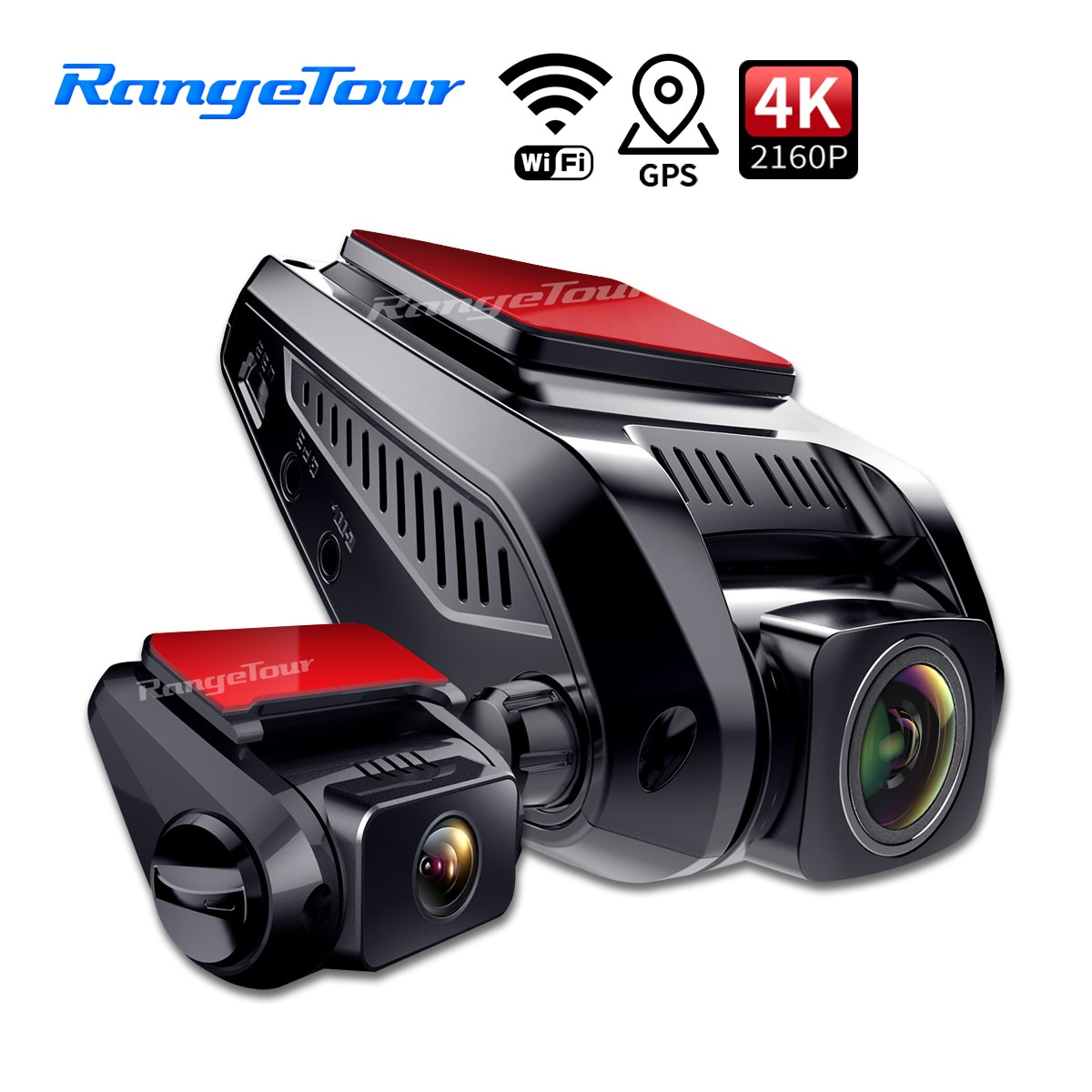 Car DVR Camera 4K 2160P Build In GPS WiFi ADAS Dash Cam  Front and Rear Both 1080P Driving Recorder Motion Detection 24H Parking