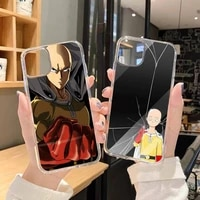 anime one punch man phone case clear transparent for iphone 11 12 mini pro xs max 8 7 6 6s plus x 5s se xr 2020
