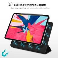 case for ipad pro 11 2018 air 4 2020 case slim tri fold magnetic pu leather smart cover for ipad pro 12 9 2020 2021 tablet case