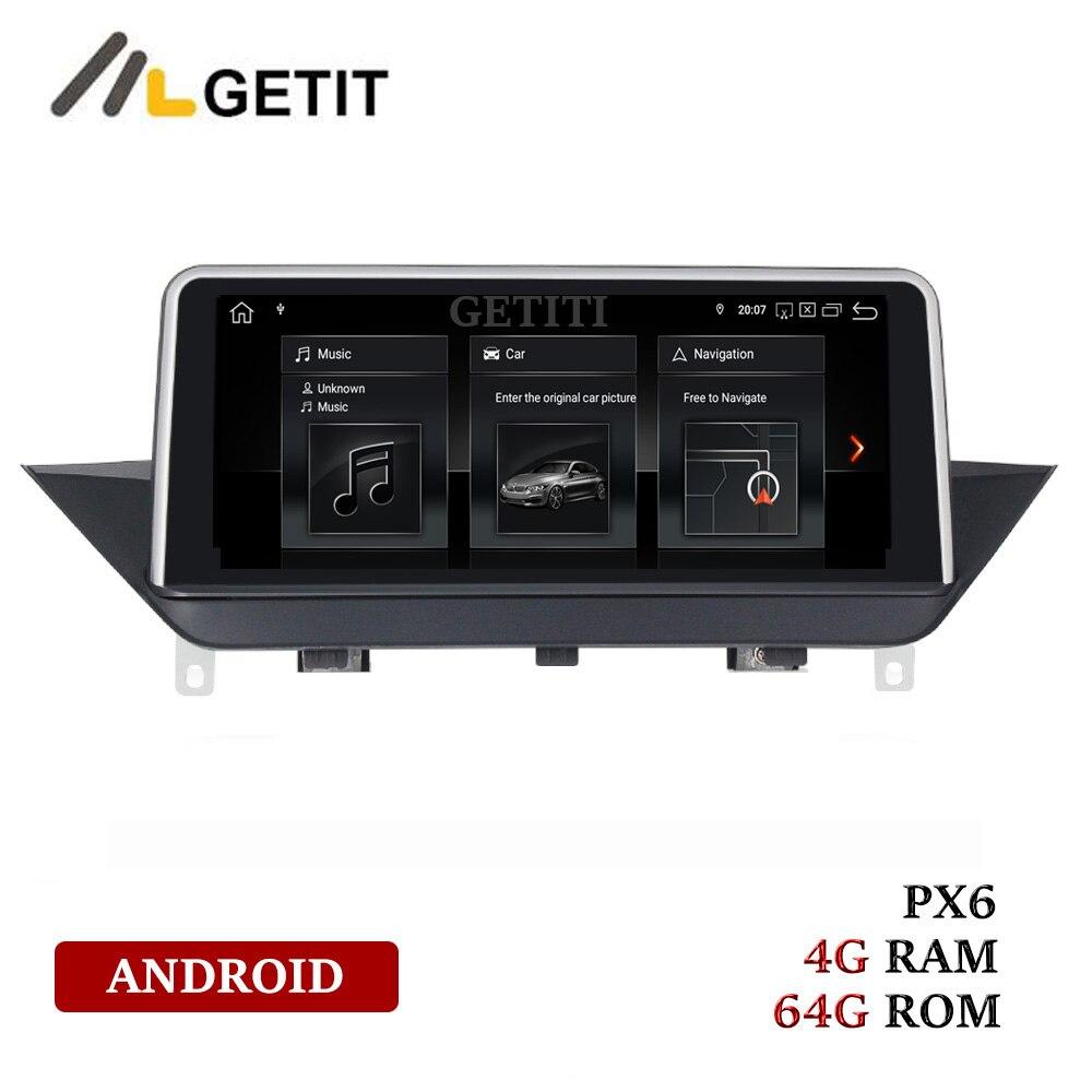 4 + 64g px6 android 9 carro dvd gps multimedio para bmw x1 e84 com tela original sistema cic jogador estéreo