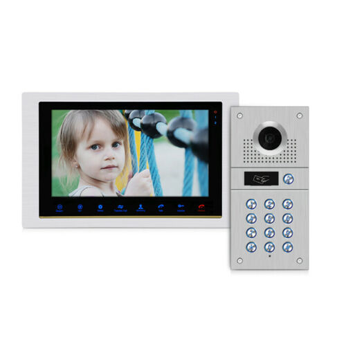 Cable de 10 pulgadas Monitor de pantalla de grabación de vídeo teléfono puerta Sistema de portero automático timbre RFID teclado de código Cámara envío gratis