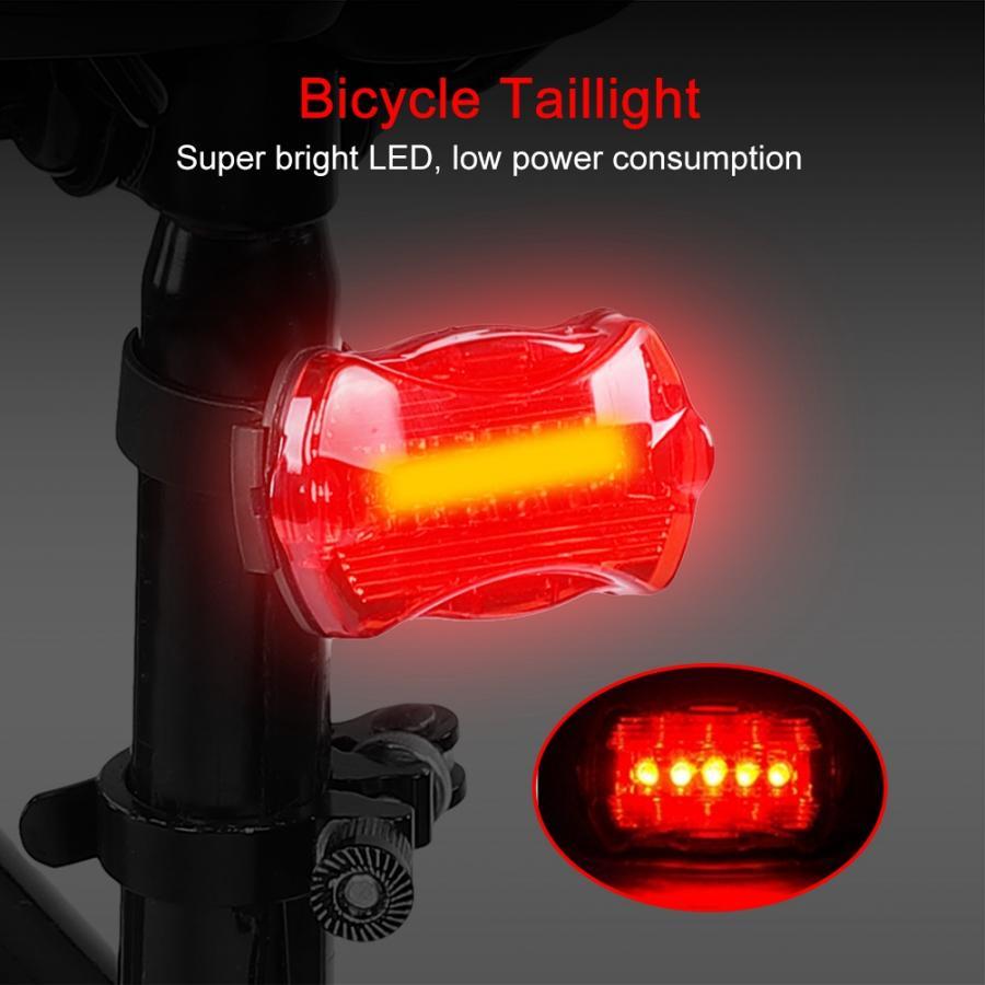 Bicicleta luz da bicicleta bicicleta ciclismo luzes da cauda lâmpada 5 led luz traseira acessórios mountain road bicicleta luz de segurança nova