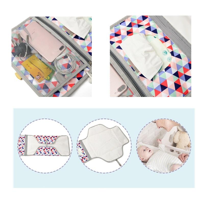 Baby Changing Mat Portable Foldable Washable Waterproof Mattress Changing Pad Mats Reusable Travel Pad Diaper enlarge