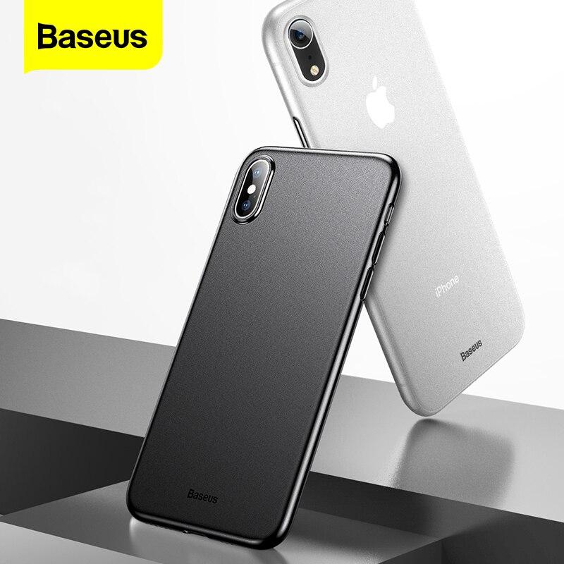 Baseus Phone Case For iPhone X Xr Xs Max Coque Super Thin Ultra Slim PP Matte Cover For iPhoneXs X S Xr Xsmax Fundas Capinhas