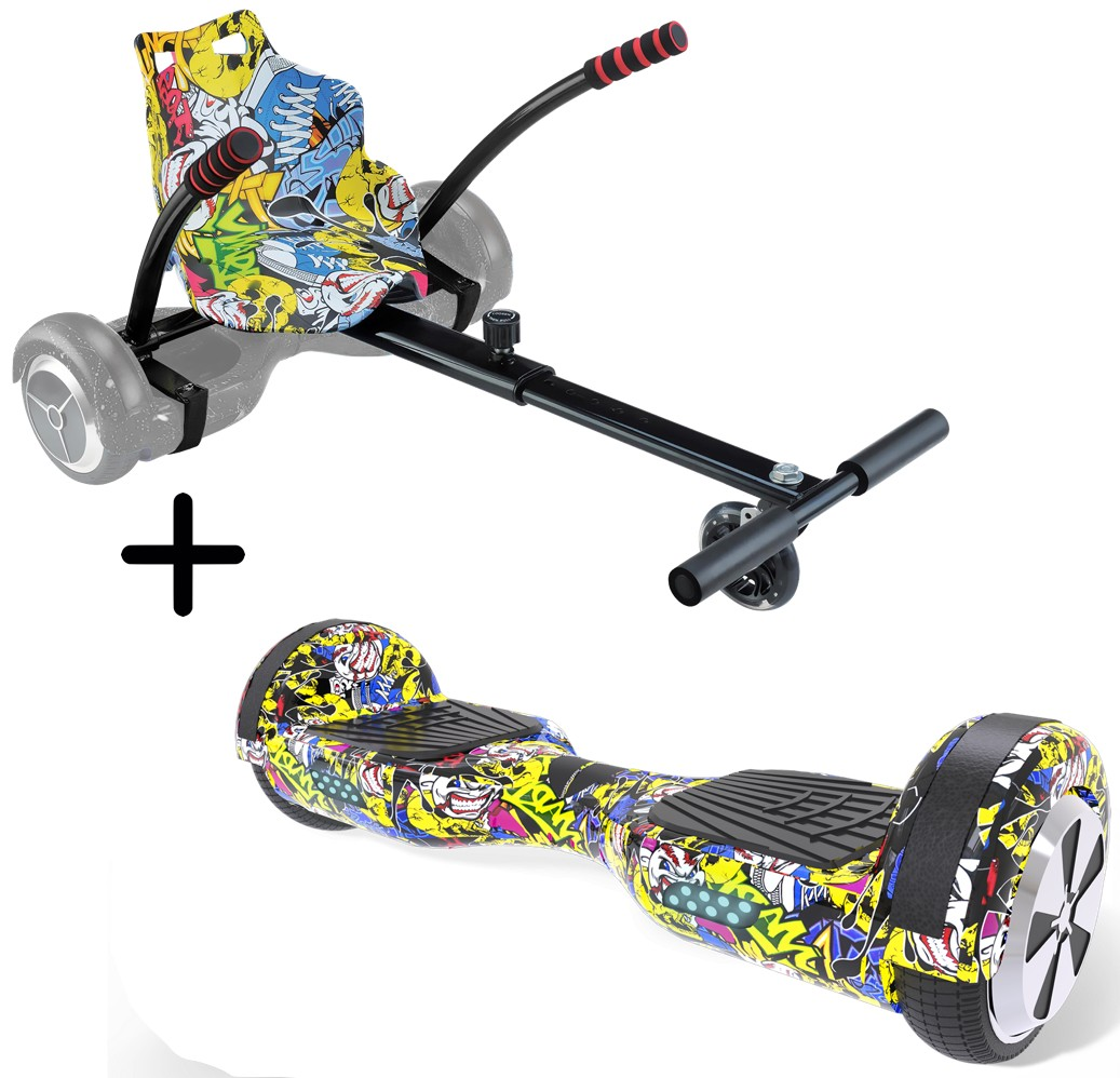 Hoverboard URBANGLIDE 65S Multicolor + Kart Pilot Multicolor