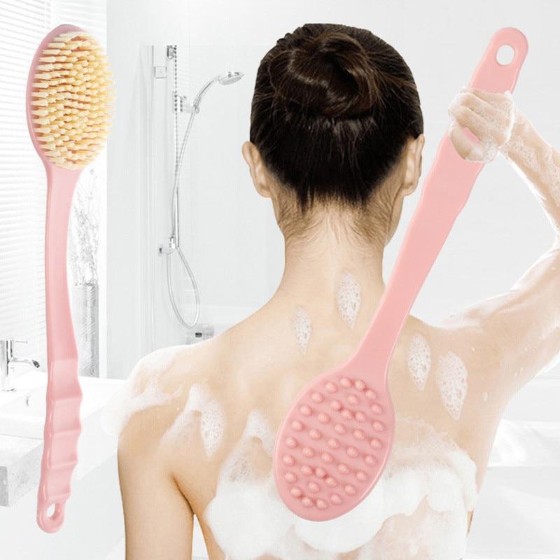 Bath Brush Long Handle Scrubber Skin Massage Brush Feet Rubbing Body Brush For Back Exfoliation Brus