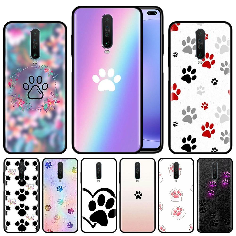 Funda de pata de perro best friends para Xiaomi Redmi Note 8T 8 7 9 Pro K20 K30 5G 6 6A funda protectora de teléfono de silicona negra